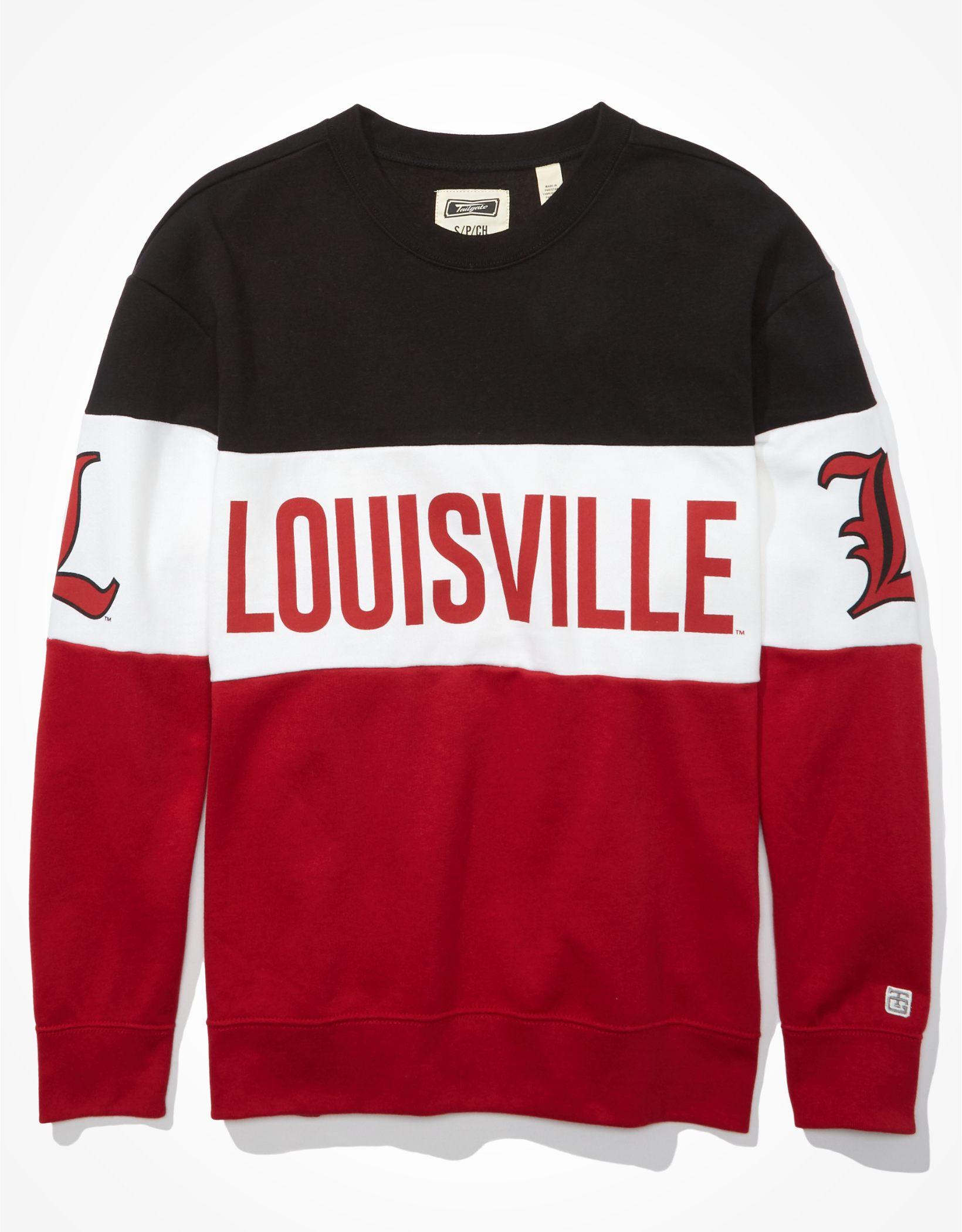 Tailgate Women's Louisville Cardinals Colorblock Sweatshirt