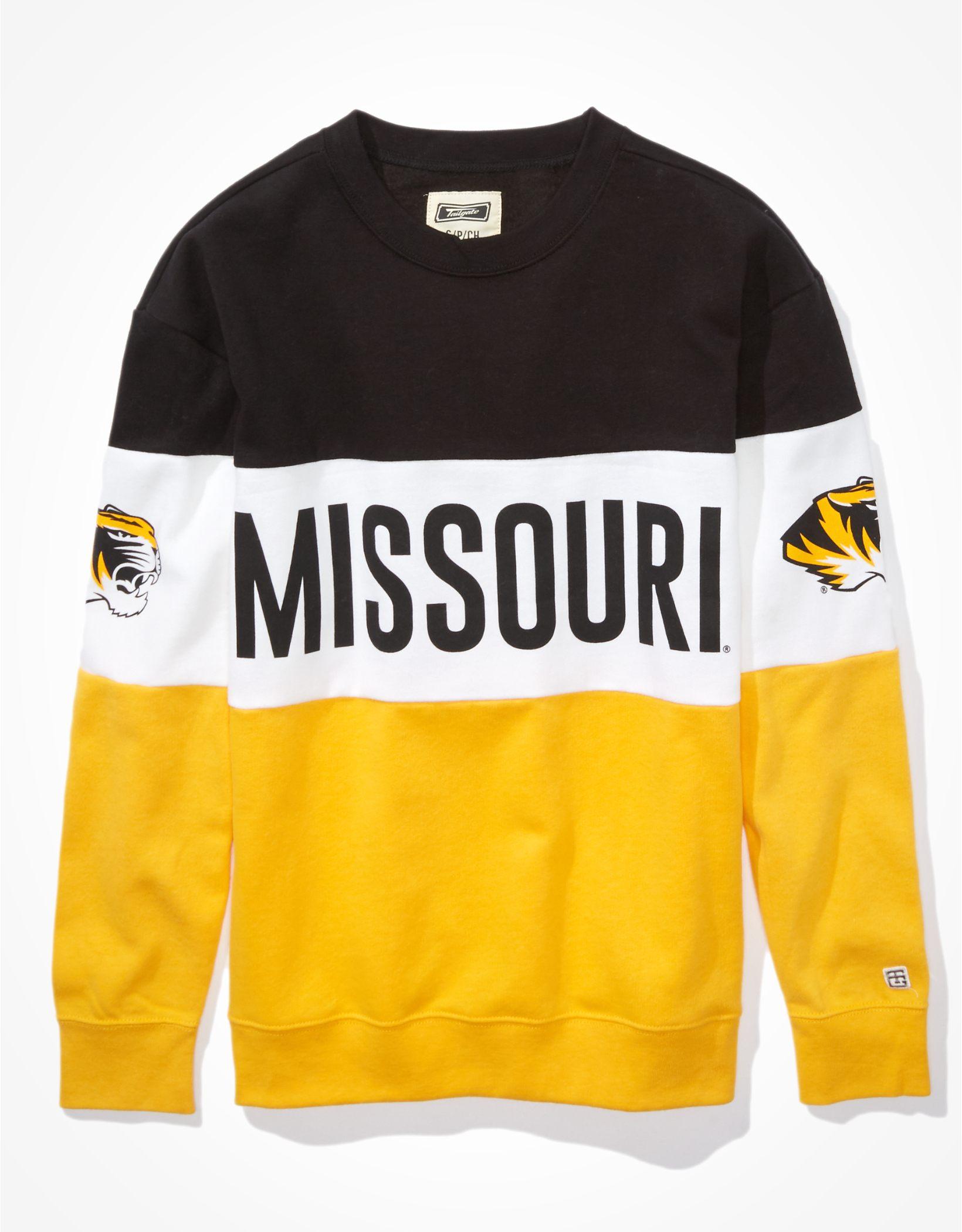 Tailgate Women's Missouri Tigers Colorblock Sweatshirt