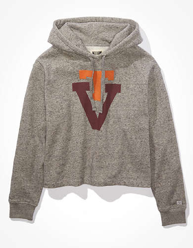 Tailgate Women's Virginia Tech Hokies Cropped Hoodie