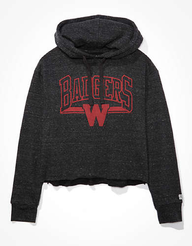 Tailgate Women's Wisconsin Badgers Cropped Hoodie