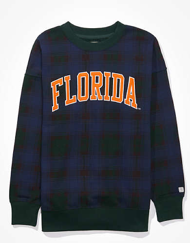 Tailgate Women's Florida Gators Plaid Sweatshirt