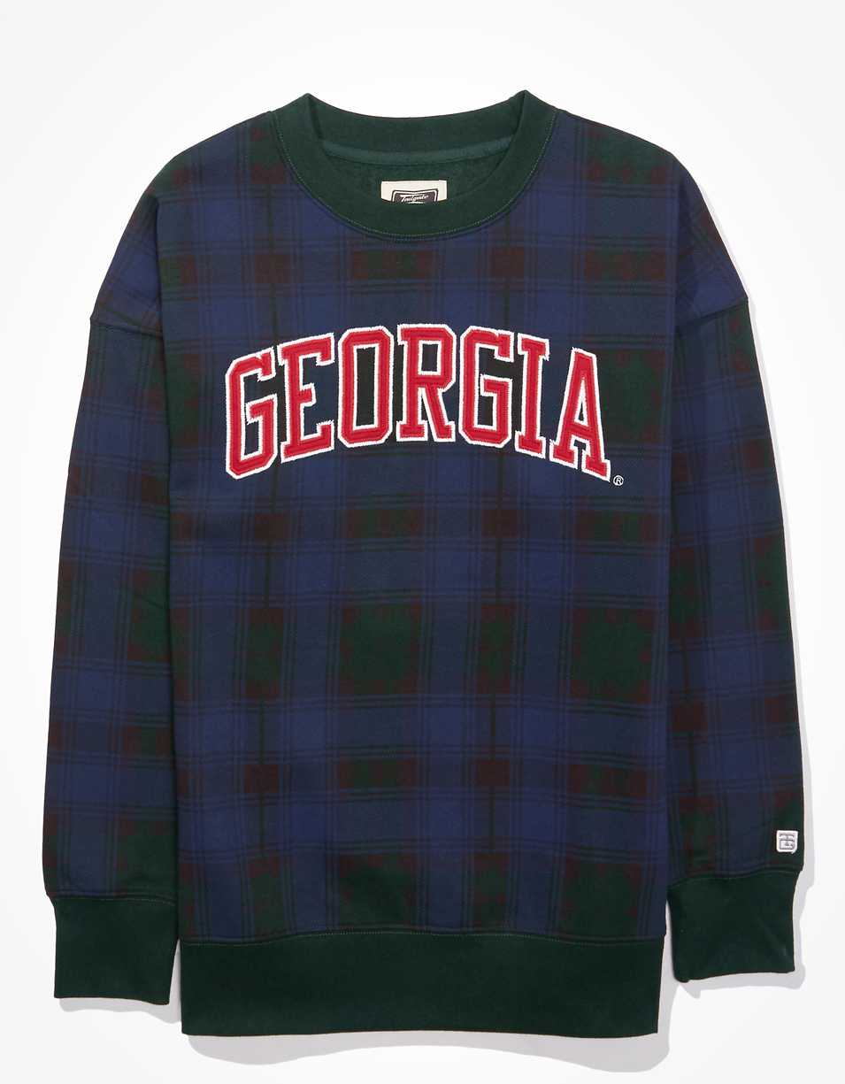 Tailgate Women's Georgia Bulldogs Plaid Sweatshirt