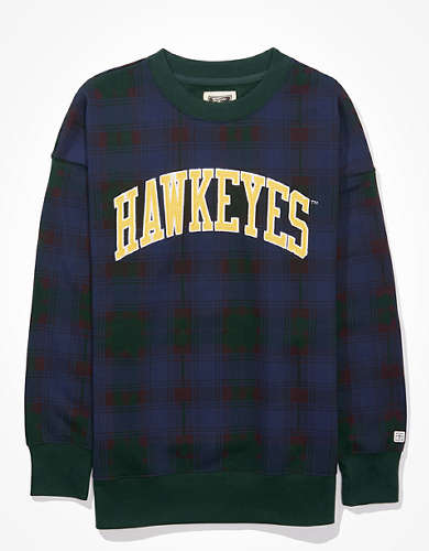 Tailgate Women's Iowa Hawkeyes Plaid Sweatshirt