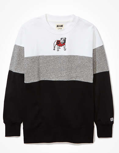 Tailgate Women's UGA Colorblock Sweatshirt