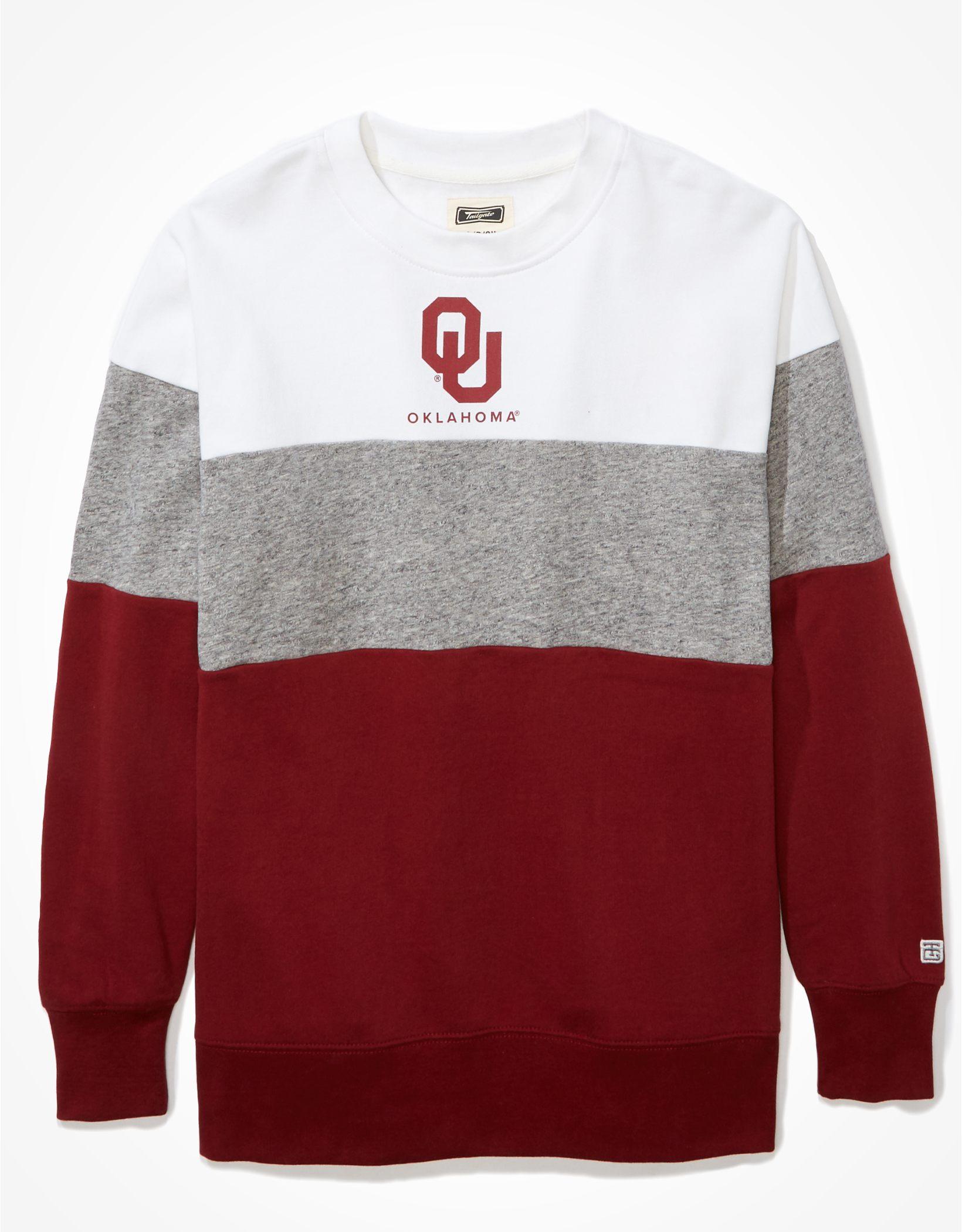 Tailgate Women's Oklahoma Sooners Colorblock Sweatshirt