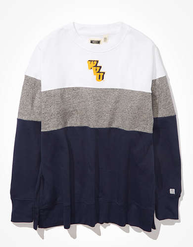 Tailgate Women's WVU Colorblock Sweatshirt