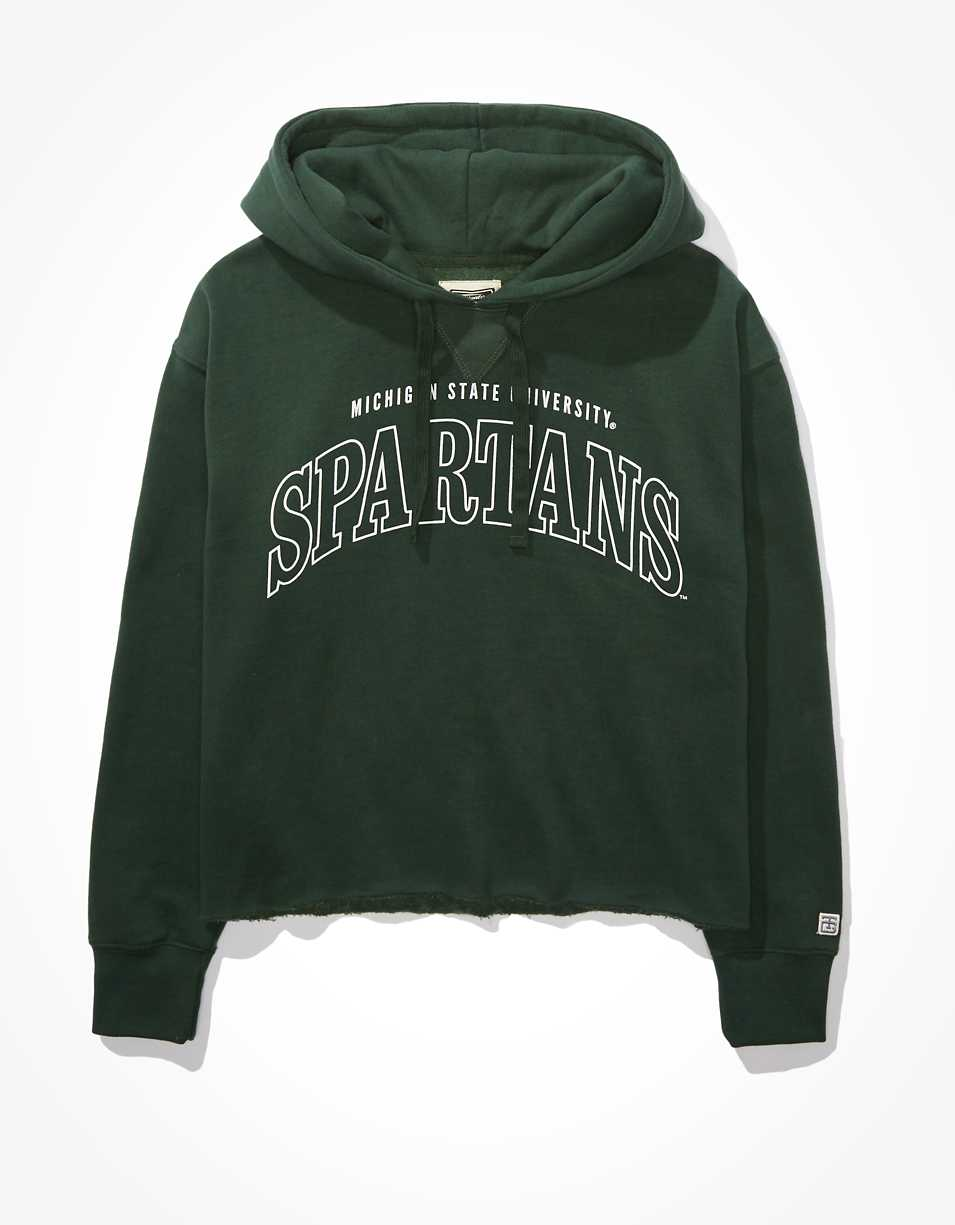 Tailgate Women's Michigan State Cropped Hoodie