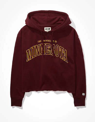 Tailgate Women's Minnesota Cropped Hoodie