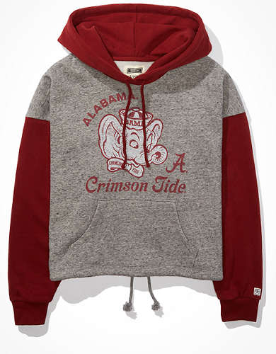 Tailgate Women's Alabama Crimson Tide Colorblock Cropped Hoodie