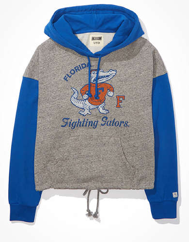 Tailgate Women's Florida Gators Colorblock Cropped Hoodie