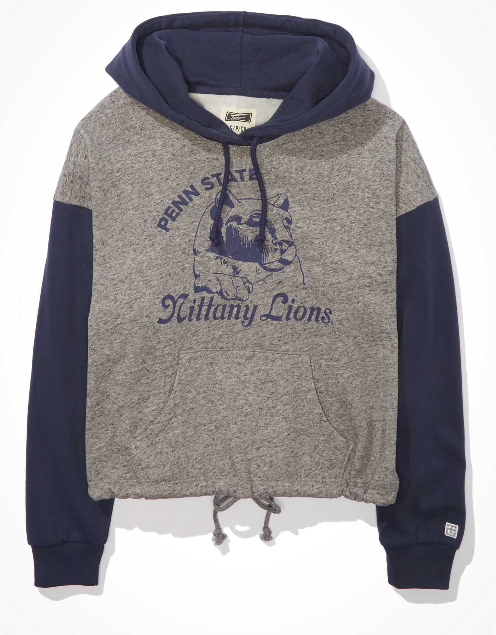 Tailgate Women's Penn State Colorblock Cropped Hoodie