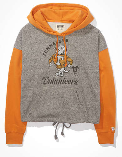 Tailgate Women's Tennessee Vols Colorblock Cropped Hoodie