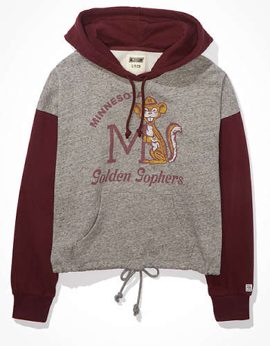 Tailgate Women's Minnesota Golden Gophers Colorblock Cropped Hoodie