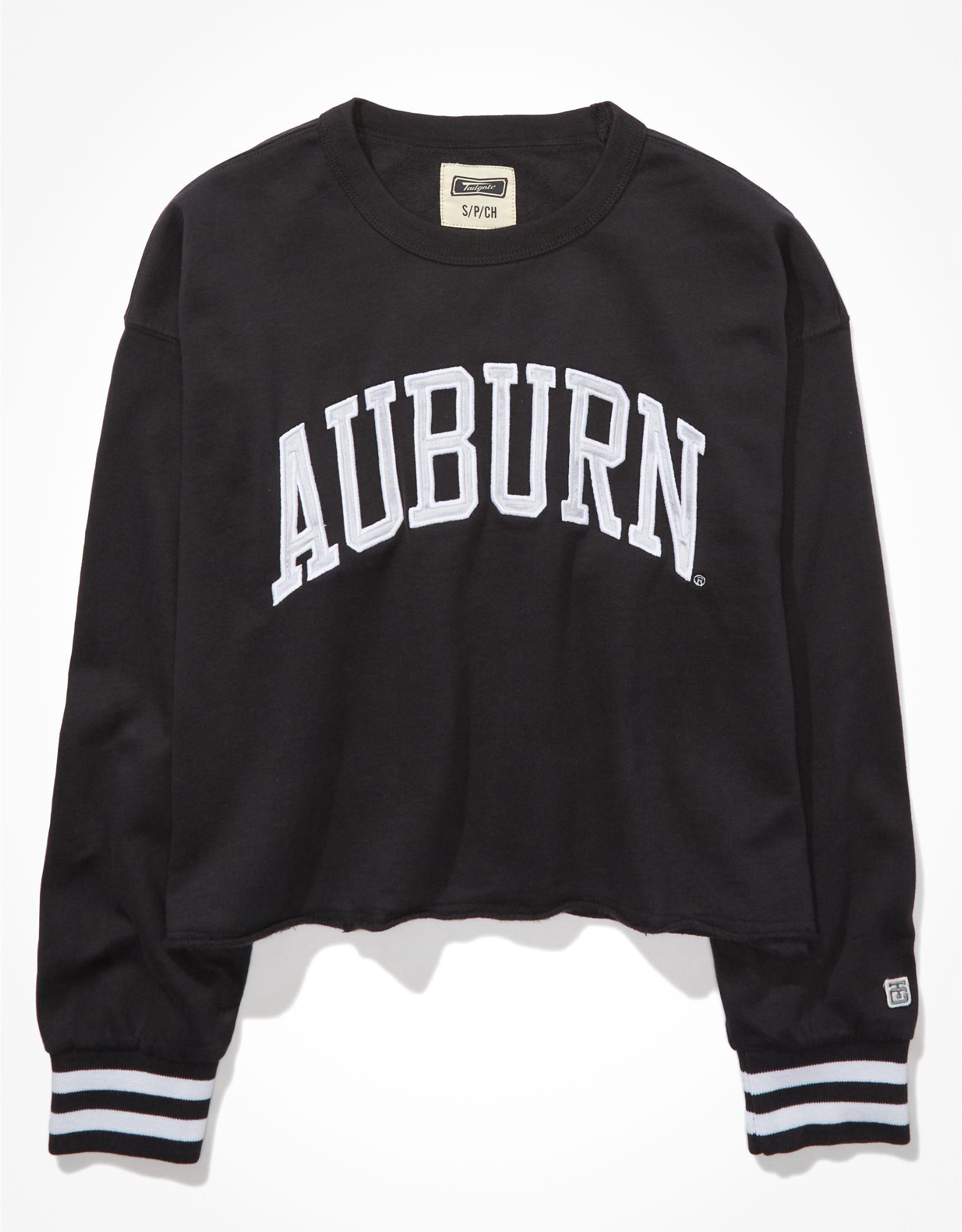 Tailgate Women's Auburn Tigers Tipped Raw Hem Sweatshirt