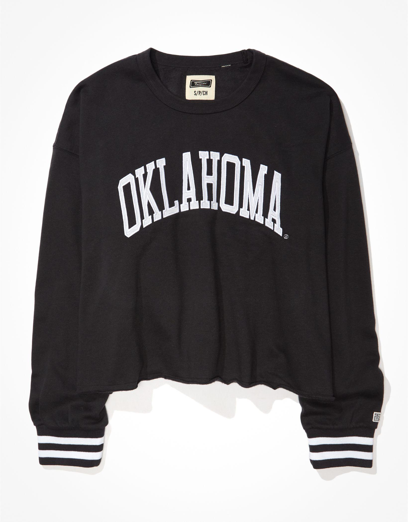 Tailgate Women's Oklahoma Sooners Tipped Raw Hem Sweatshirt