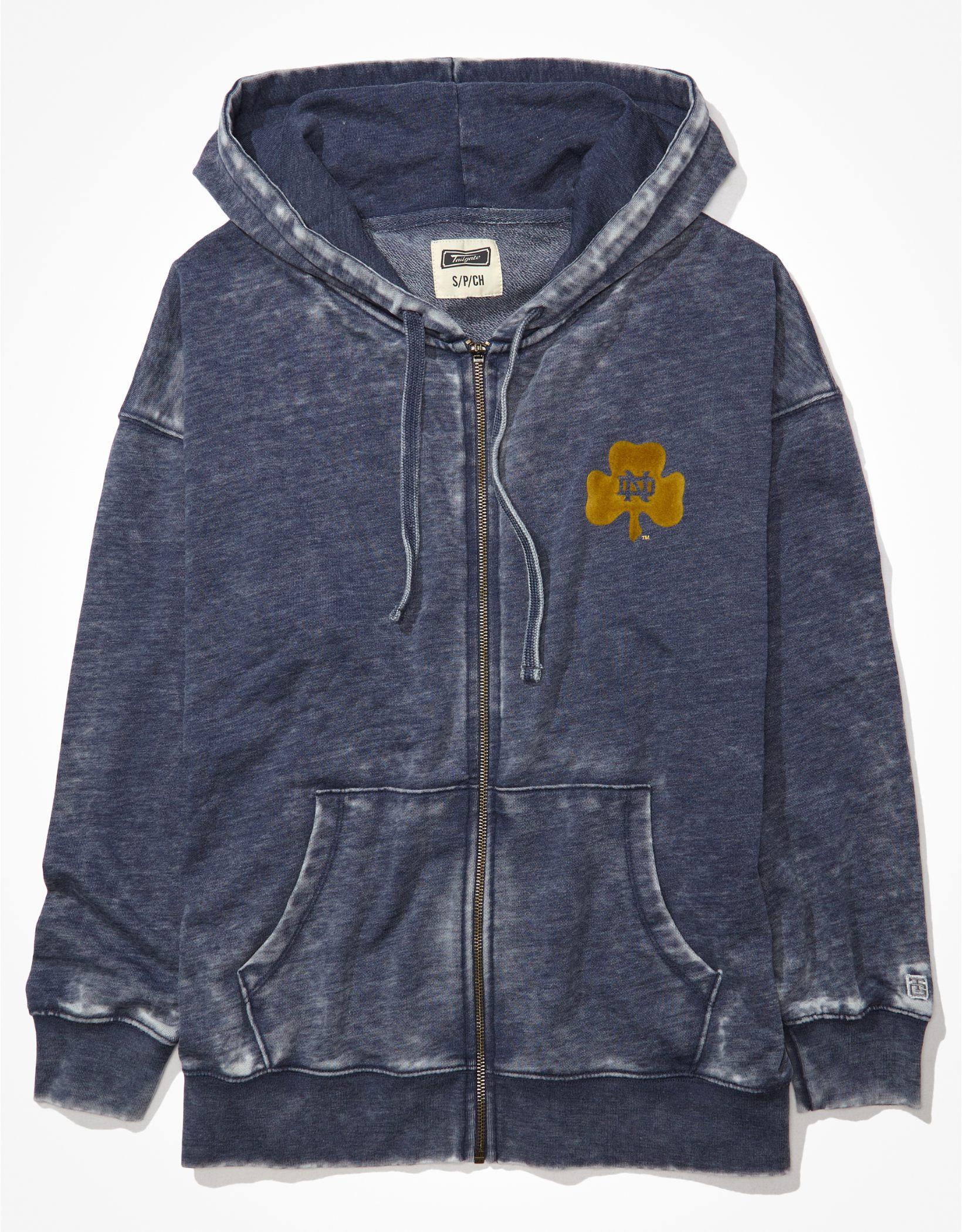 Tailgate Women's Notre Dame Oversized Zip-Up Hoodie