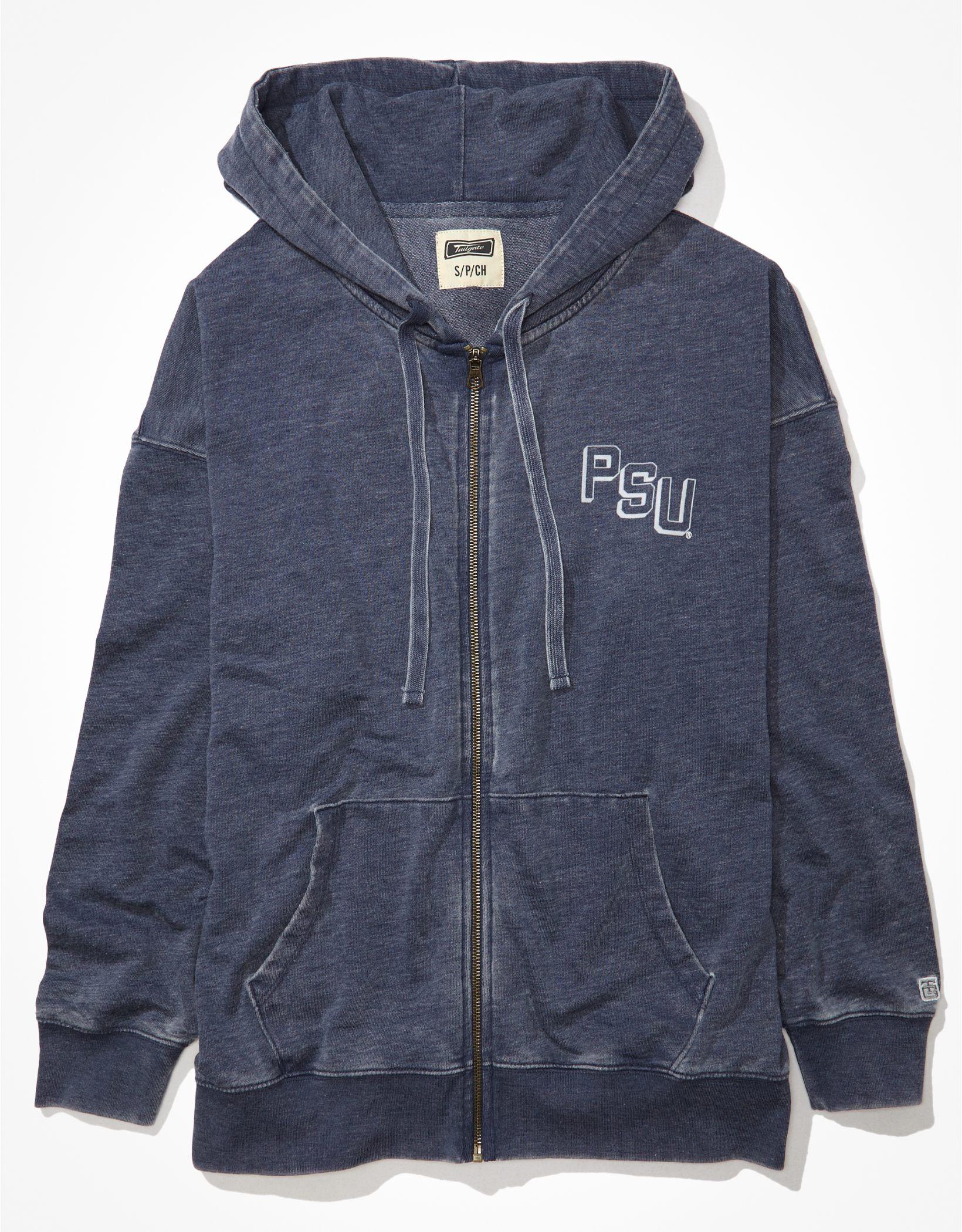 Tailgate Women's Penn State Oversized Zip-Up Hoodie