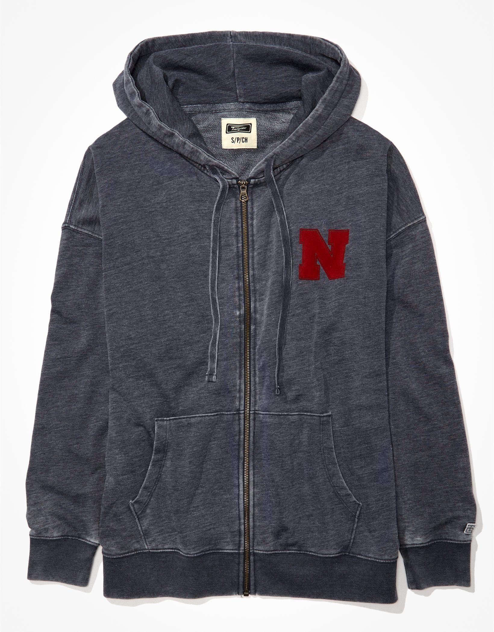 Tailgate Women's Nebraska Cornhuskers Oversized Zip-Up Hoodie