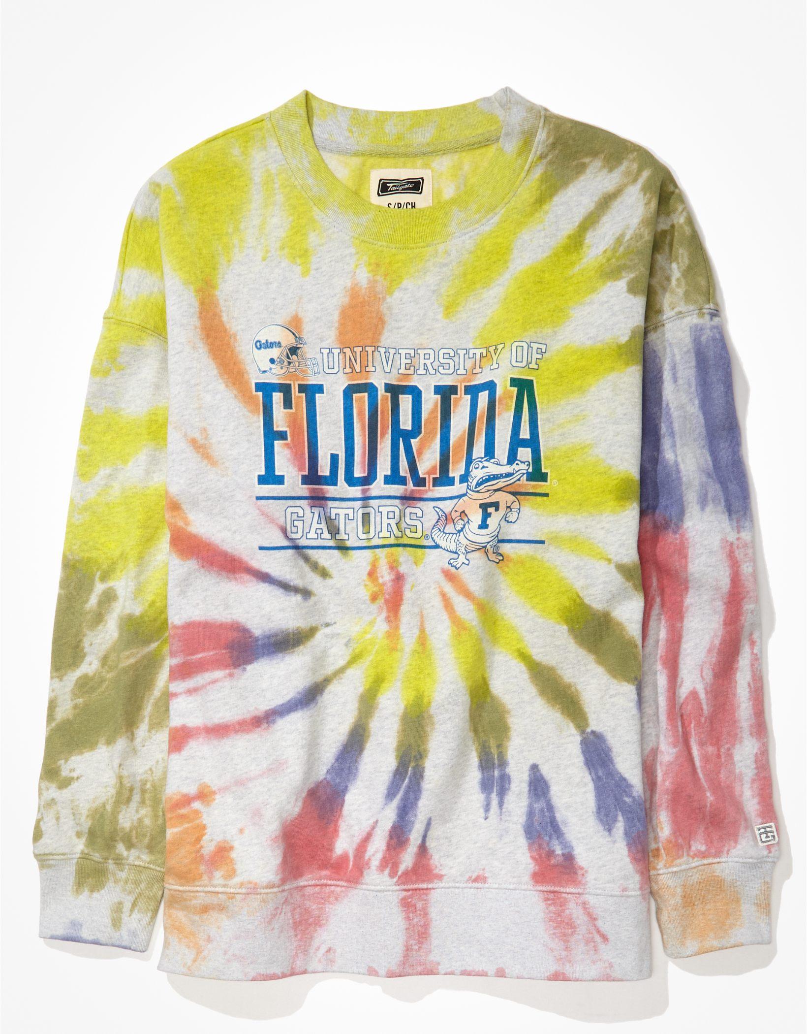 Tailgate Women's Florida Gators Oversized Tie-Dye Sweatshirt