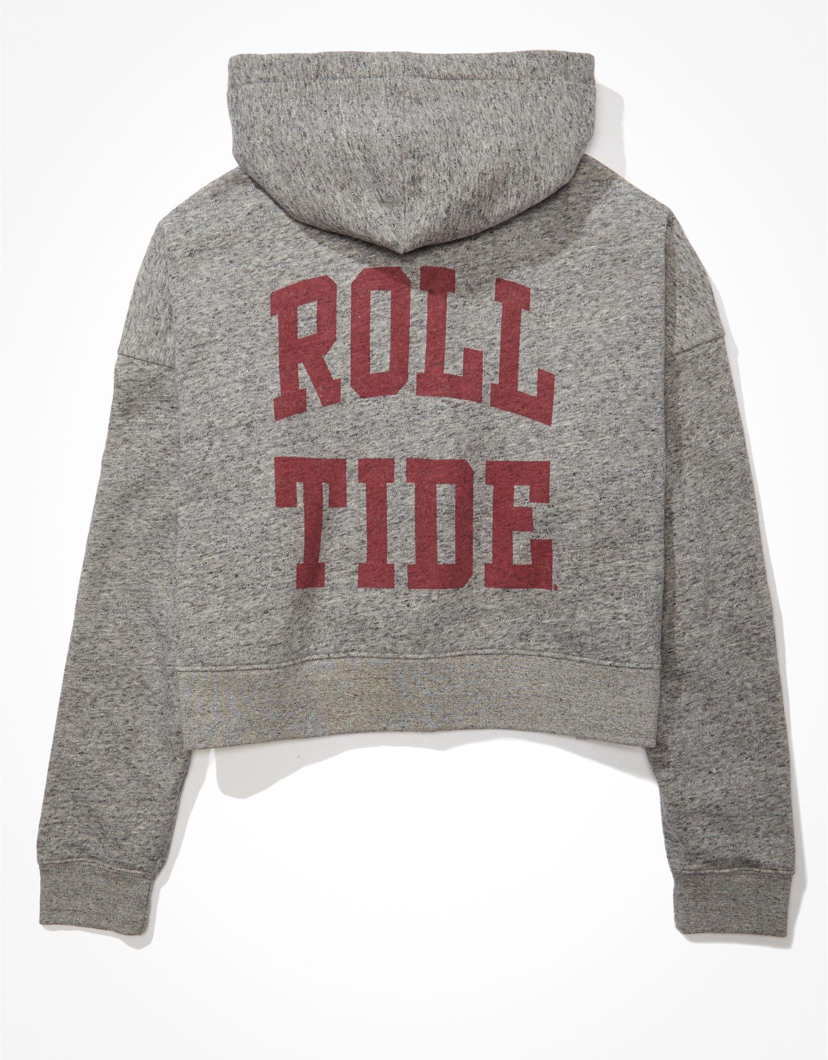 Tailgate Women's Alabama Crimson Tide Cropped Zip-Up Fleece Hoodie
