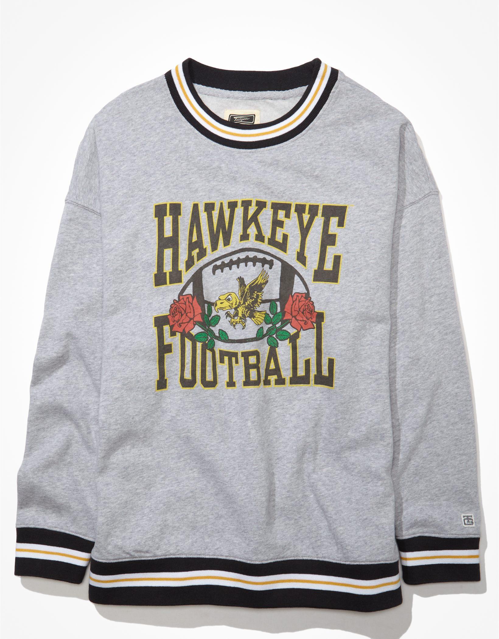Tailgate Women's Iowa Hawkeyes Oversized Tipped Sweatshirt