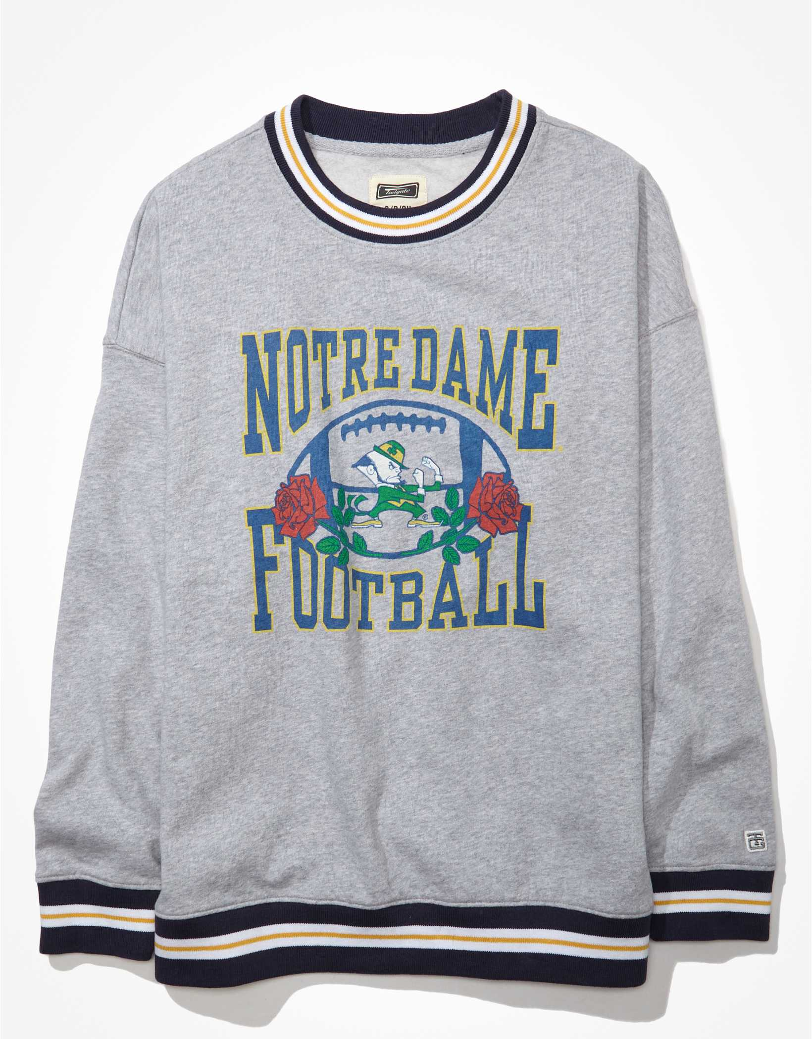 Tailgate Women's Notre Dame Oversized Tipped Sweatshirt