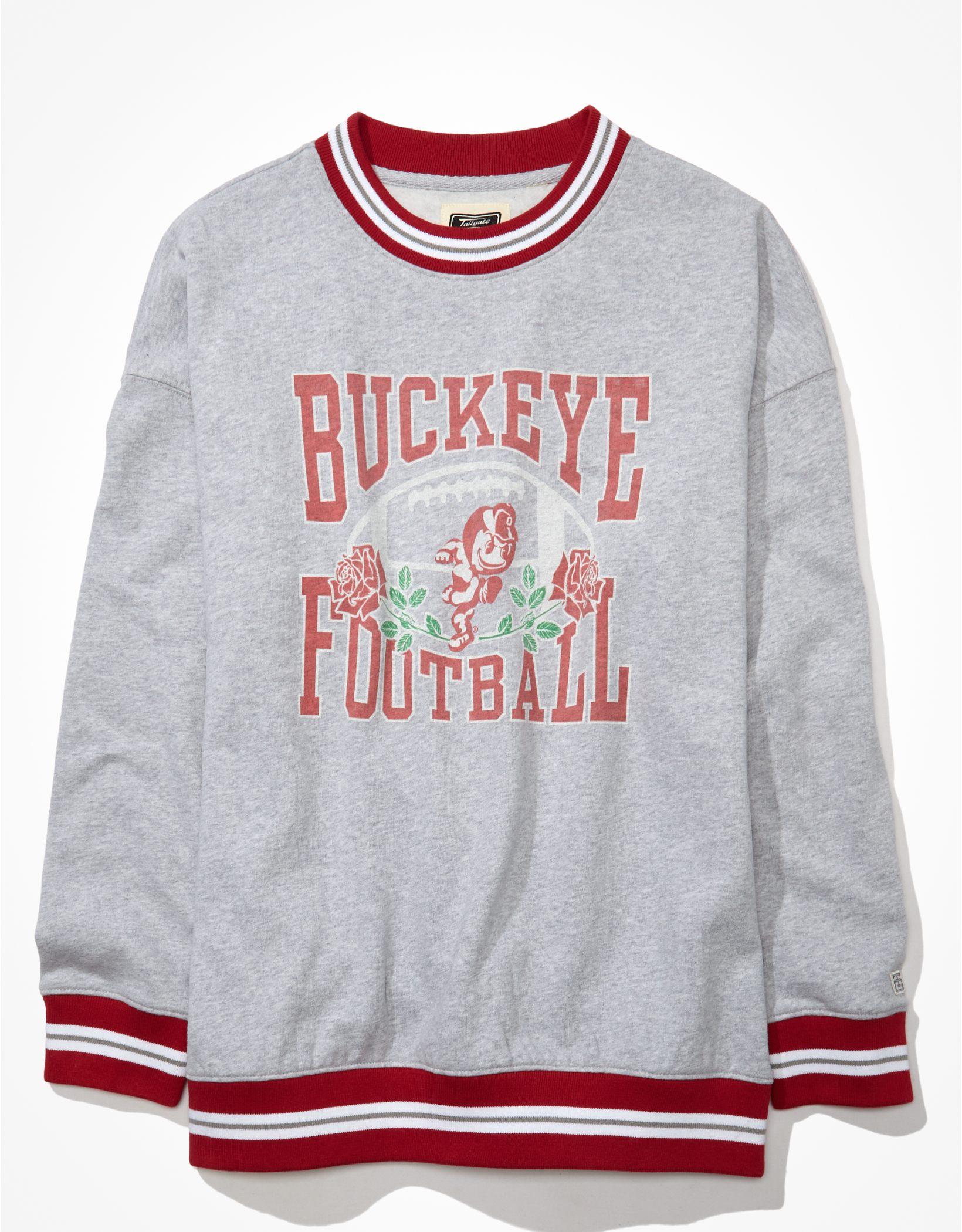 Tailgate Women's Ohio State Buckeyes Oversized Tipped Sweatshirt