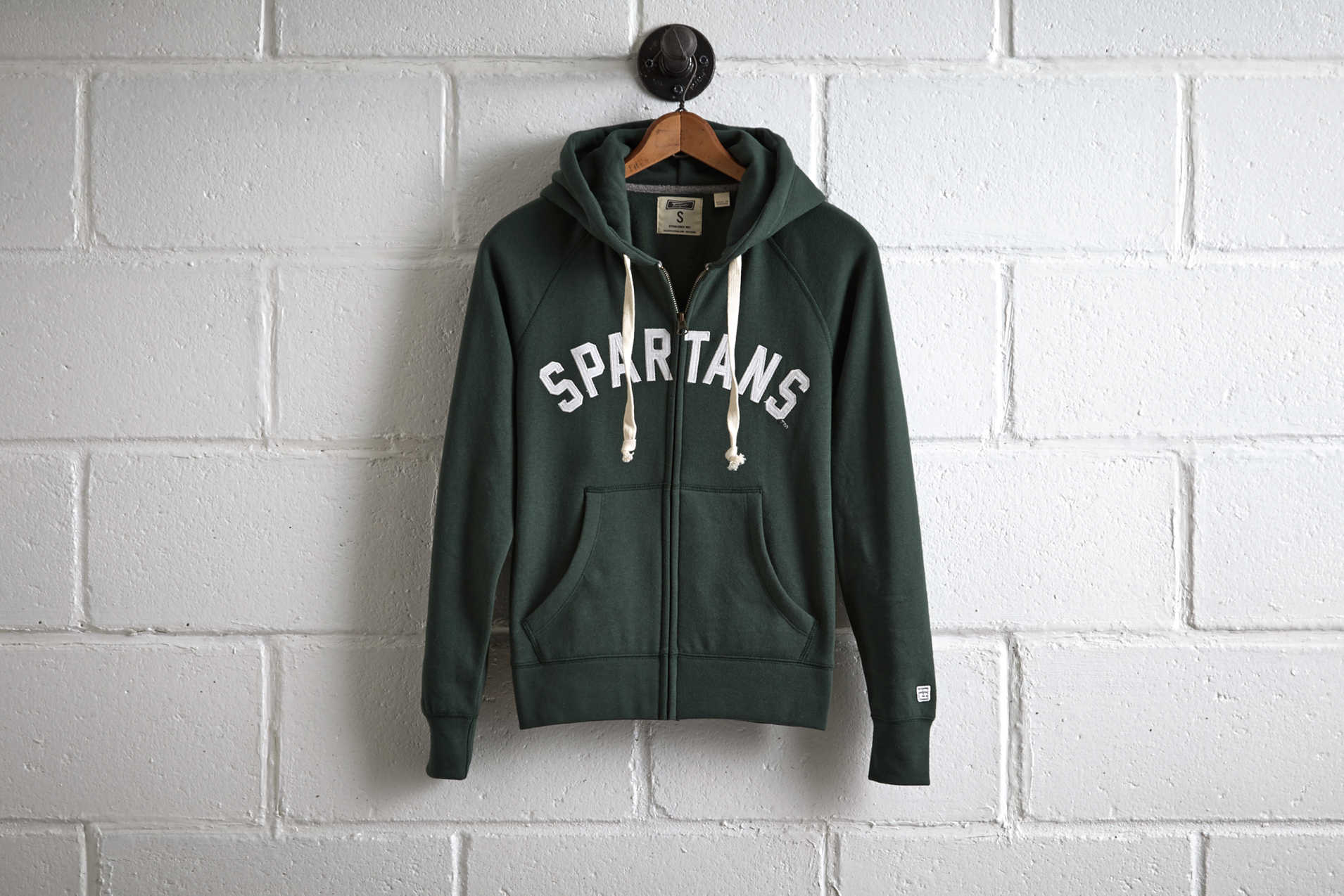 Tailgate Women's Michigan State Zip Hoodie