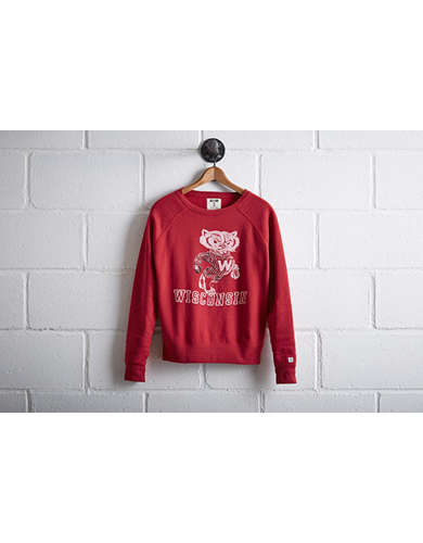 Tailgate Women's Wisconsin Badgers Crew Sweatshirt - Free Returns