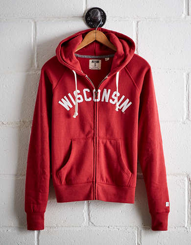 Tailgate Women's Wisconsin Zip Hoodie - Free Returns