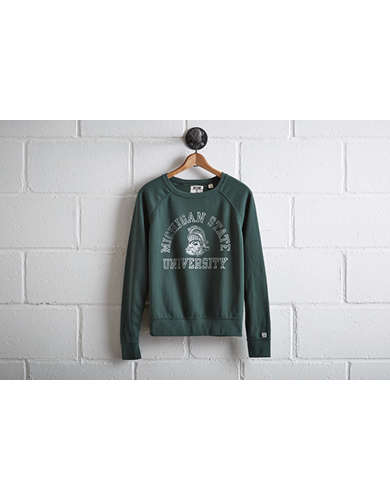 Tailgate Women's Michigan State Crew Sweatshirt - Free Returns