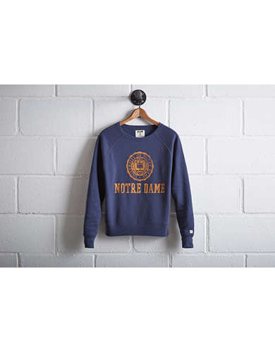 Tailgate Women's Notre Dame Irish Crew Sweatshirt - Free Returns