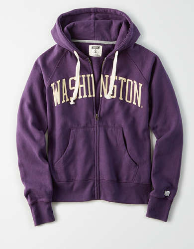 Tailgate Women's Washington Huskies Zip-Up Hoodie