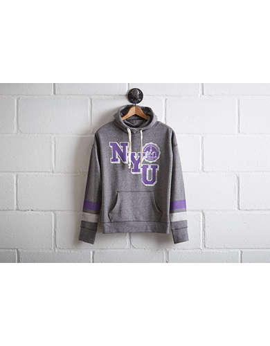 Tailgate Women's NYU Violets Cowl Neck Hoodie - Free Returns