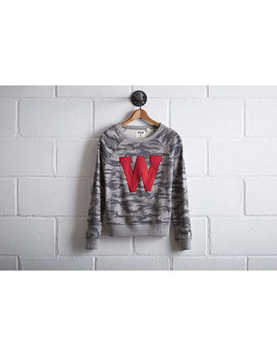 Tailgate Women's Wisconsin Camo Sweatshirt - Free Returns