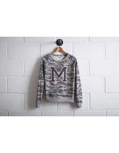 Tailgate Women's Michigan Camo Sweatshirt - Free Returns