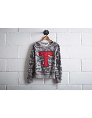 Tailgate Women's Texas Tech Camo Sweatshirt - Free Returns