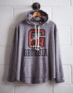 tailgate women 39 s georgia oversize hoodie gray heather american eagle outfitters. Black Bedroom Furniture Sets. Home Design Ideas
