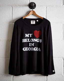 Tailgate Women's My Heart In Georgia Plush Tee