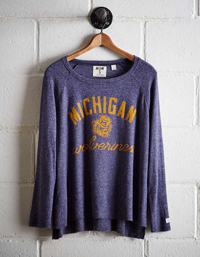 Tailgate Women's Michigan Plush Tee - Free Returns