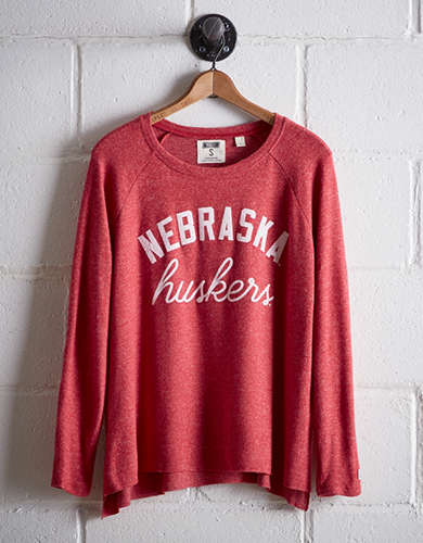 Tailgate Women's Nebraska Plush Tee - Free Returns