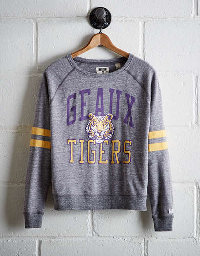 Tailgate Women's LSU Varsity Sweatshirt - Free Returns