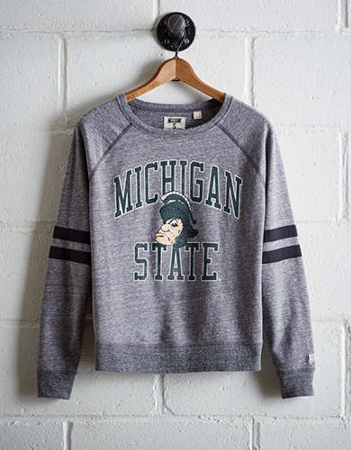 Tailgate Women's Michigan State Varsity Sweatshirt - Free Returns