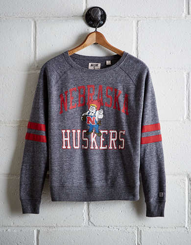 Tailgate Women's Nebraska Varsity Sweatshirt - Free Returns