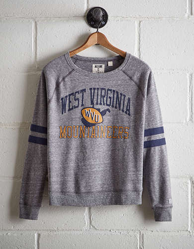 Tailgate Women's West Virginia Varsity Sweatshirt - Free Returns