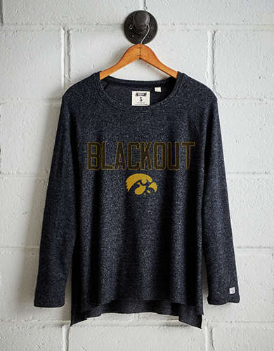 Tailgate Women's Iowa Hawkeyes Plush Tee - Free Returns