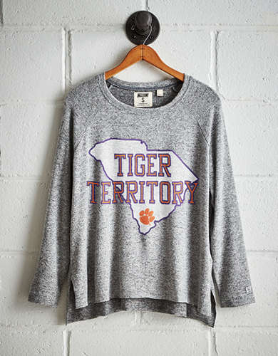 Tailgate Women's Clemson Tigers Plush Tee - Free Returns