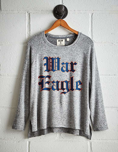 Tailgate Women's Auburn War Eagle Plush Tee - Free Returns