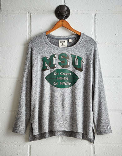 Tailgate Women's Michigan State Plush Tee - Buy One Get One 50% Off