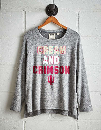 Tailgate Women's Indiana Hoosiers Plush Tee - Free Returns